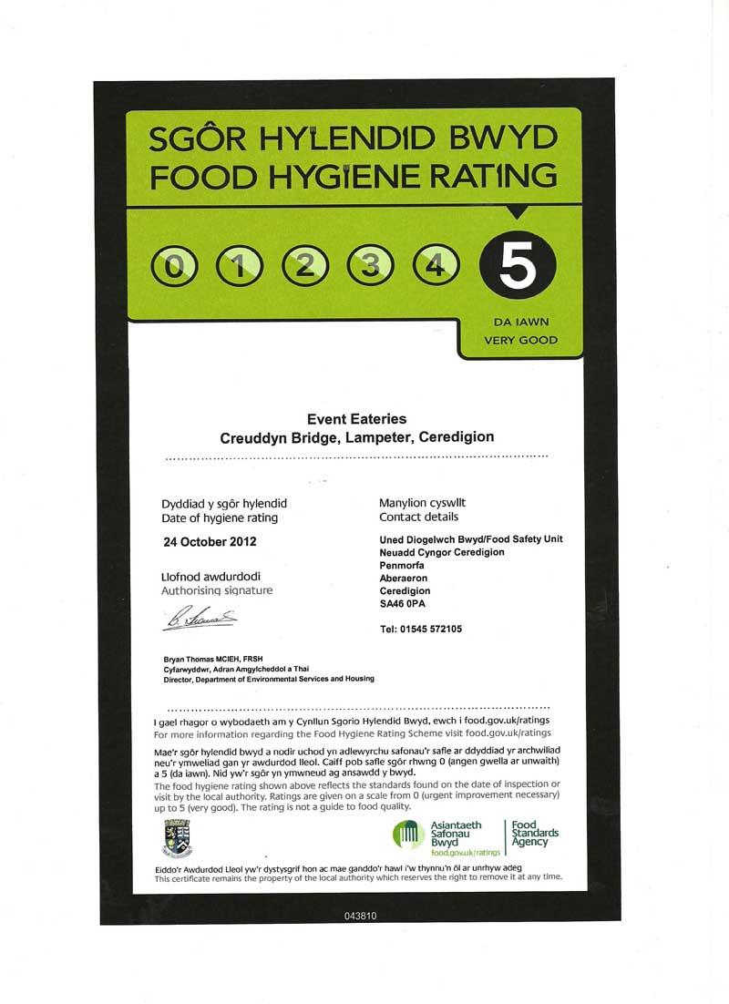 Ceredigion County Council Food Hygiene